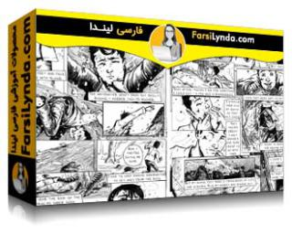 لیندا _ آموزش مداد زنی صفحه کتاب کمیک (با زیرنویس فارسی AI)